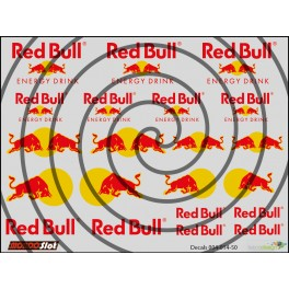 Decals Red Bull - 10x7.5cm