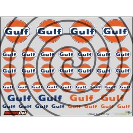 Decals Gulf - 10x7.5cm