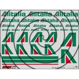 Decals Alitalia - 10x7.5cm